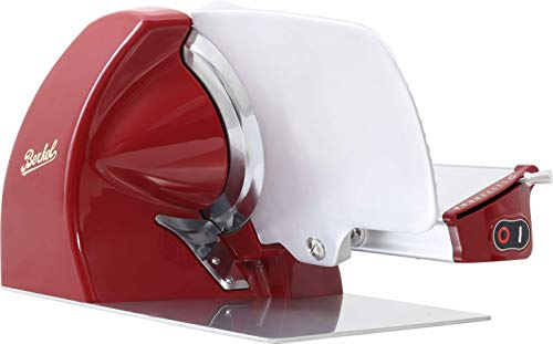 Berkel Home Line 250 Food Slicer/Red/10' Blade/Electric Food Slicer/Slices Prosciutto, Meat, Cold Cuts, Fish, Ham, Cheese, Bread, Fruit and Veggies/Adjustable Thickness Dial