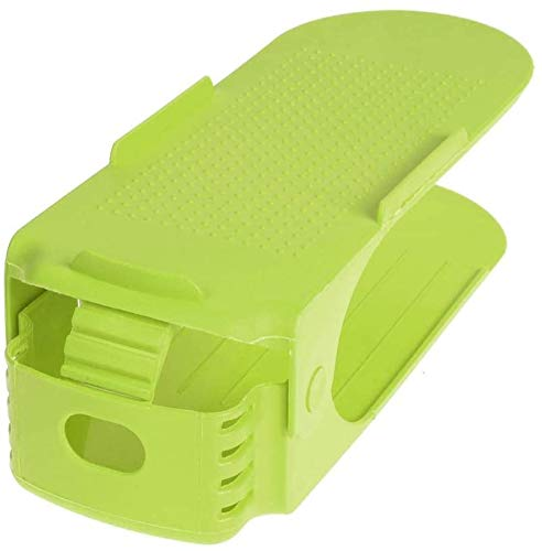 SulyCreations Portascarpe, Organizer Scarpe, Salvaspazio Regolabili da Scarpiera, Portascarpe Regolabili in Plastica Durevole (10 Pezzi Tiffany Color)… (Verde Fluo)