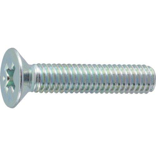 TRUSCO(トラスコ) 皿頭小ネジ 三価 白 全ネジ M6×15 49本入 B702-0615