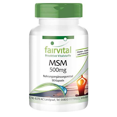 MSM Kapseln 500mg - HOCHDOSIERT - VEGAN - 90 Kapseln - Methylsulfonylmethan