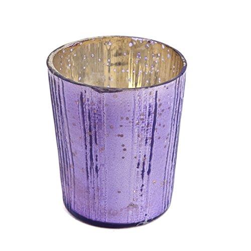Insideretail Wedding Teal Ight Holders, Vetro, Purple, 7x 7x 7cm, 12unità