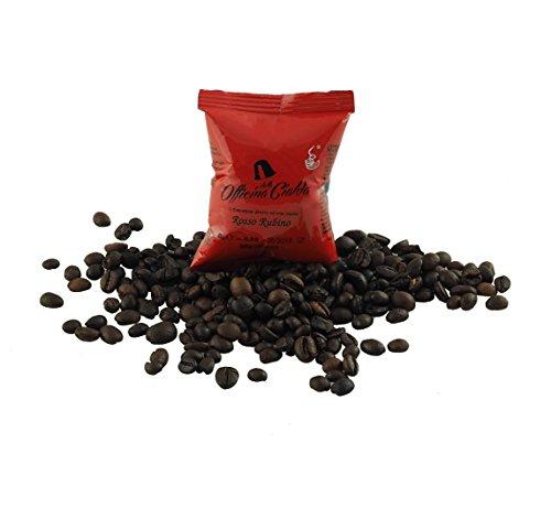 ODC Capsule caffè compatibili con macchina da caffè sistema Lavazza A modo Mio kit formato da 100 cialde caffè miscela Rossa Rubino intensità 8 con chiusura salva freschezza MADE IN ITALY