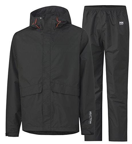 Helly Hansen Workwear regenbescherming set Waterloo 70627 jas en broek, 4XL, zwart