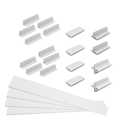 Usforest Upgrade Vision 4 Pack of Adjustable Expendable Drawer Dividers DIY Plastic Drawer Organizers for Bedroom Bathroom Closet Office Kitchen Whit