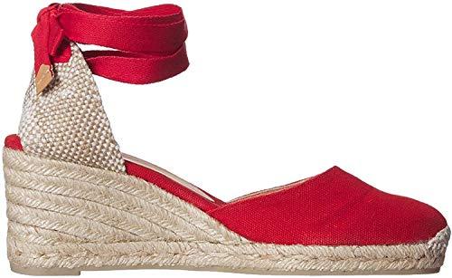 Castañer CARINA/6/001, Alpargatas para Mujer, Rojo (Rojo Rubi 502), 38 EU