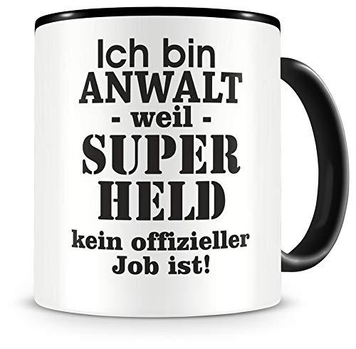 Samunshi® Ich bin Anwalt Tasse Beruf Geschenk Kaffeetasse Teetasse Kaffeepott Kaffeebecher Becher 300ml Anwalt