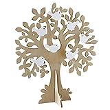 Mopec Árbol de Los Deseos para Bodas, Madera, marrón, 3.5x33x43 cm