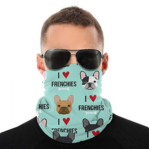 NA Frenchie Dog Fabric Microfiber with Pocket Mens Bandana & Sports Headband Idéal pour la Course, l'entraînement, Le Tennis, Le karaté