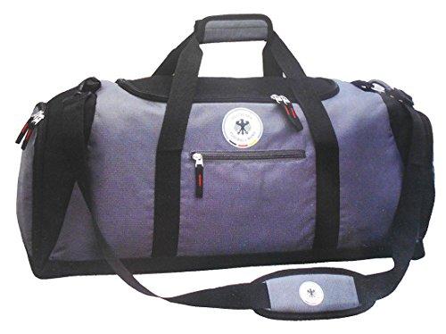 DFB Retro Reisetasche Sporttasche Weekender Tasche Freitzeit Tasche Lizensprodukt (Grau)