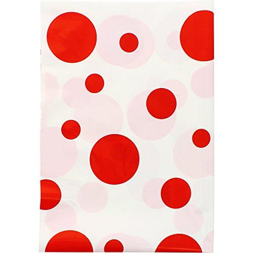 Fixo Kids 72103. Pack de 5 Bolsas Disfraz, 65x90cm, Lunares Rojos