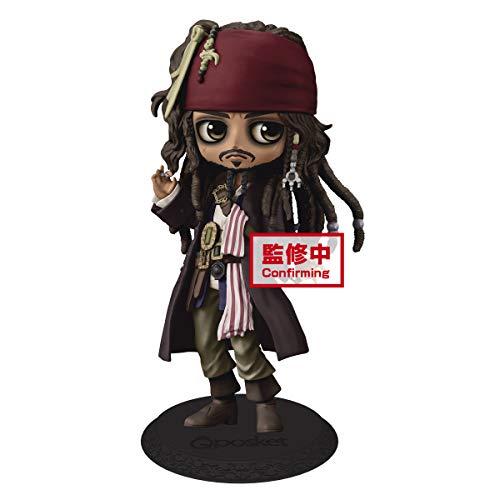 Banpresto Figura Jack Sparrow Piratas del Caribe Disney Q Posket A 14cm, BP16540