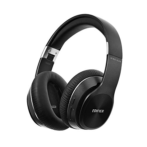 Edifier W820BT Bluetooth Headphones - Foldable Wireless Headphone with 80-Hour Long Battery Life - Black