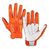 Grip Boost Peace, Shaka, and Hook 'Em Football Gloves Pro Elite - Adult Sizes (Orange, Adult XX-Large)