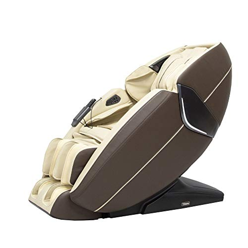 Ti-Prime 3D New Technology Full Body Massage Chair FDA Zero Gravity Recliner with Tapping, Heating and Foot Rollers Best Massage Chair (Cream)