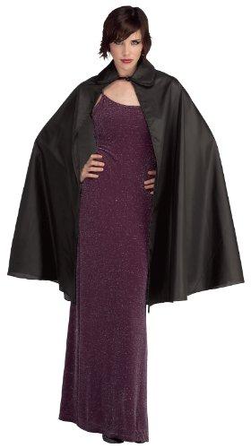 Rubie's womens 3/4 Taffeta 3 4 Length Cape Costume Black 45 Inch, Multicolor, 45-Inch US
