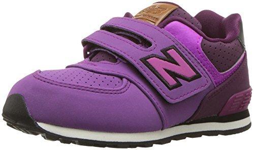 New Balance New Balance, Unisex-Kinder Sneaker, Violett (Hunter/purple/black), 23.5 EU (6.5 UK Child)