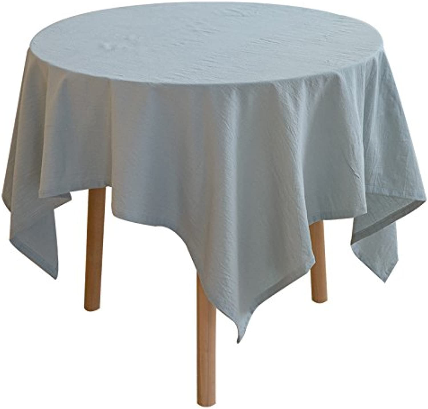 Creek Ywh Japanese plain tablecloth fabric cotton and linen small fresh table cloth round tablecloth tablecloth tablecloth rectangular, light green, 100140cm