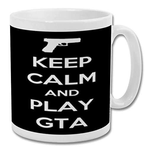 Keep Calm and Play GTA - Taza de 10 oz