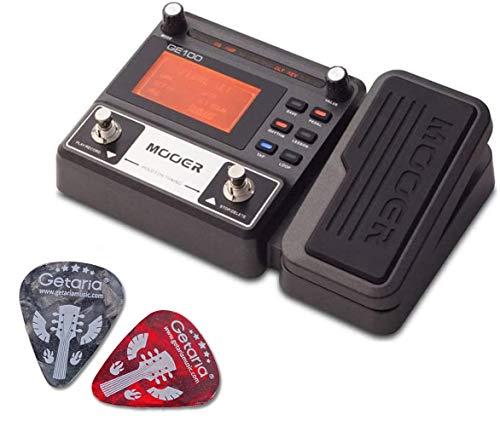 Mooer Gitarren-Effektpedal ME GE 100 Multi-Effekt-Prozessor mit 2 Getaria-Plektren