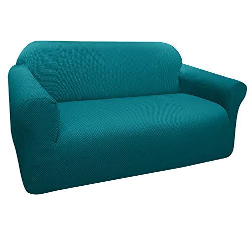 Granbest Sofabezug, dick, elastisch, 2-Sitzer-Sofabezug, rutschfest, Jacquard-Stoff, waschbar (2-Sitzer, grün)