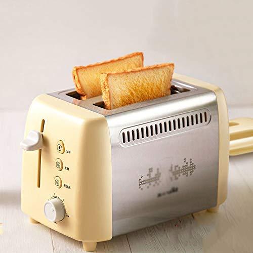 Modenny Toaster'bread Automatische Toaster mit Anti-Staubschutz Thaw Funktion Haushalt 6-Gang Mini Frühstück Toaster Edelstahl 2 Scheiben for Familien Adjustable Marken Sand-Frühstück-Werkzeug