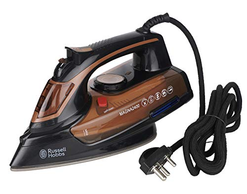 Russell Hobbs Vertical Steam Iron with 2400-Watt 380 ml Water Tank and Anti Drip, 50 g/min (Copper Colour)