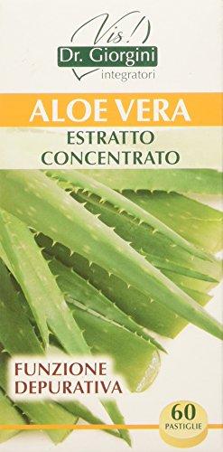 Dr. Giorgini Integratore Alimentare, Monocomponenti Erbe Aloe Vera Estratto Titolato Estratto Concentrato Pastiglie - 30 g