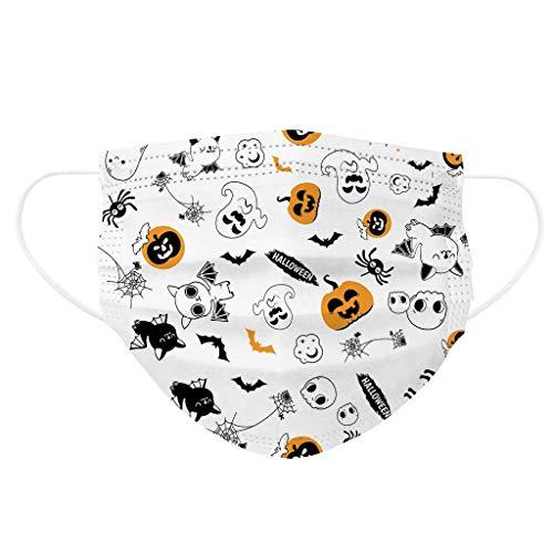 Sanin-30 funda desechable para niños, con almohadilla de protección de higiene bucal y facial elástica de tres capas para colgar las orejas, seguridad para niños (Halloween)