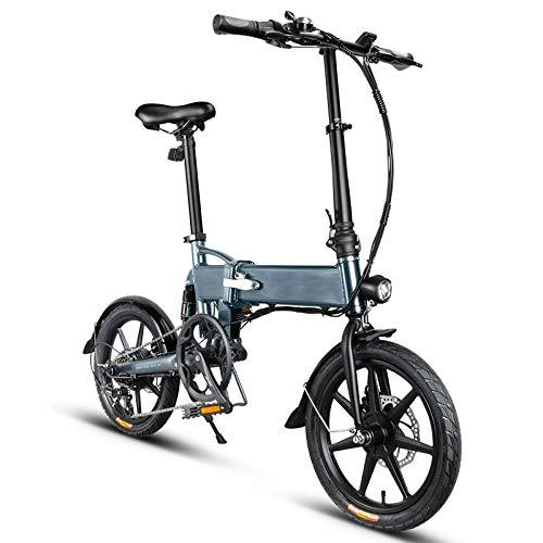 Bicicletta elettrica Pieghevole, City Bike Pieghevole, Pieghevole Bici elettrica Bicicletta in Lega di Alluminio da 16 Pollici Portatile velocità Max 25 km/h