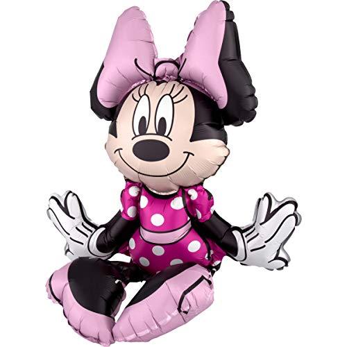 Amscan 3818801 Folienballon Sitter Minnie Maus, Folie, Mehrfarbig