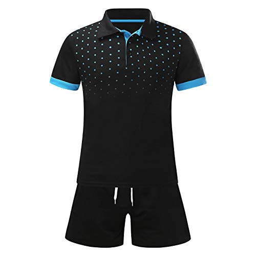 Polo de golf para hombres verano seco ajuste punto patrón verano 2 piezas playa manga corta camisas y pantalones cortos conjuntos