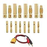 LbsAMP Conector de mujer color chapado en oro de 2 mm / 4 mm de plátano para RC Motor sin escobillas ESC - 30 pares