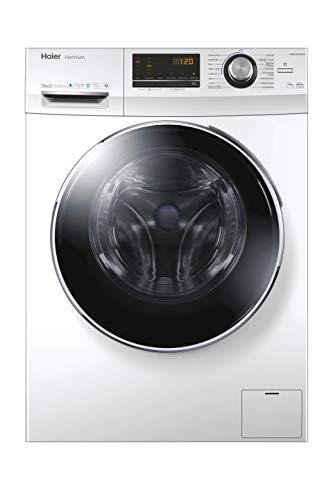 Haier HW90-B14636N Waschmaschine / 9 kg / 1400 UpM / Direct Motion Motor (sehr leiser und sparsamer Direktantrieb) / Dampf-Funktion / Vollwasserschutz / ABT / Eco 40-60 Programm