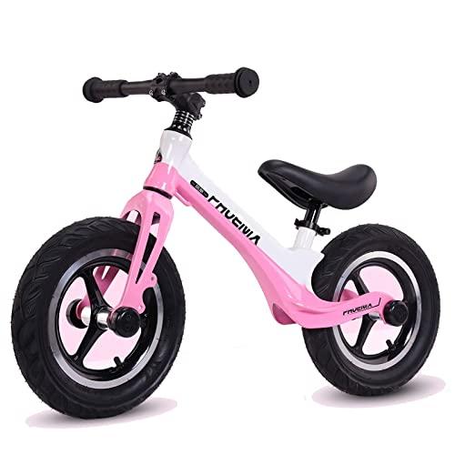 DFBGL Bicicleta de Equilibrio para niños de 2 a 5 años, Ruedas de 12 Pulgadas, Entrenamiento para Correr para niños pequeños, Bicicleta para niños y niñas, Asiento Ajustable en Altura, m