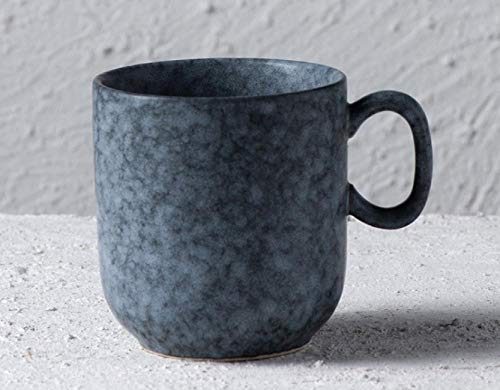 MugDisne qecdp* Teetassen Micron brennende kreative nordische Art keramische Handschale Haushaltsteeschale Bechermilchschale einfache Kaffeetasse 380ml