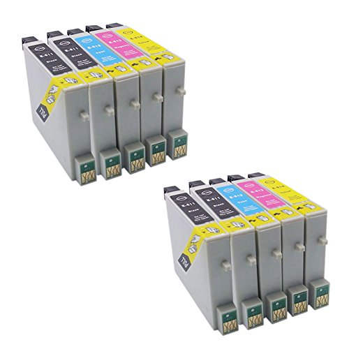 Genérico Cartucho de tinta compatible para usar en lugar de Epson T0611 T0612 T0613 T0614 (4x Negro, 2x Cian, 2x Magenta,2x Amarillo,8 pack de)