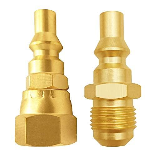 Conectores de conexión rápida de Propano de 1/4 'RV para conectar el calentador de electrodomésticos de gas, Camping Gas Grill conéctela a RV ...