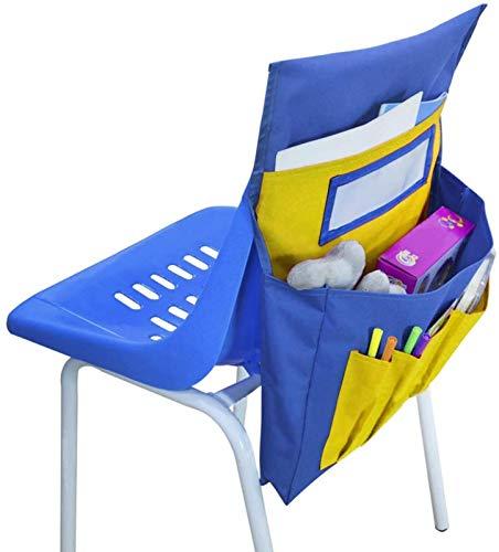 Thrivinger Chairback Buddy Pocket Chart, Pocket Chart, Chair Storage, Chair Back Pocket School Seat Chair Storage Pocket Organizer, for School Home Classroom Preschool Daycare