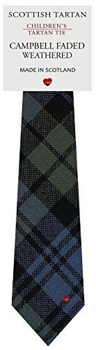 I Luv Ltd Garçon Tout Cravate en Laine Tissé et Fabriqué en Ecosse à Campbell Faded Weathered Tartan