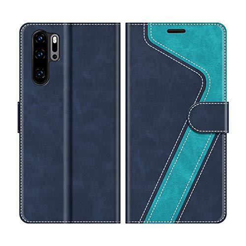 MOBESV Handyhülle für Huawei P30 Pro Hülle Leder, Huawei P30 Pro New Edition Klapphülle Handytasche Hülle für Huawei P30 Pro / P30 Pro New Edition Handy Hüllen, Modisch Blau