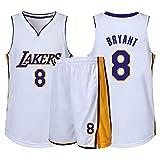 Xin Hai Yuan Jersey de baloncesto para niños, niñas, hombres, adultos, camiseta de manga corta y pantalones cortos, color blanco, XS