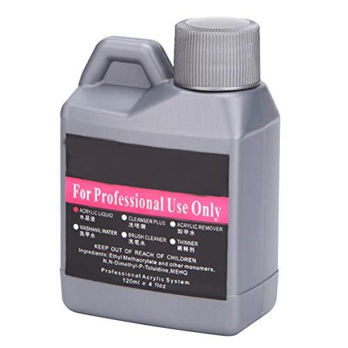 BASOYO Líquido de Cristal acrílico Profesional de Gran Capacidad de 120 ml para uñas en Polvo (Solo líquido de Cristal)