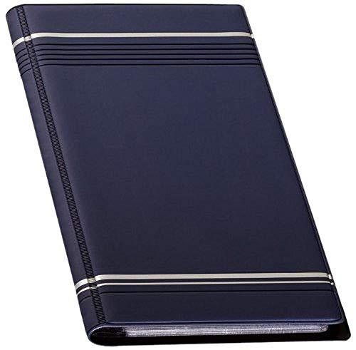Durable 858107 Visifix Visitenkartenalbum mit eingeschweißten Hüllen (für 96 Visitenkarten) in dunkelblau