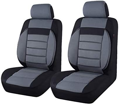 CAR PASS 6PCS Elegance Universal Two Front Car Seat Covers Set Foam Back Support Airbag Compatible product image