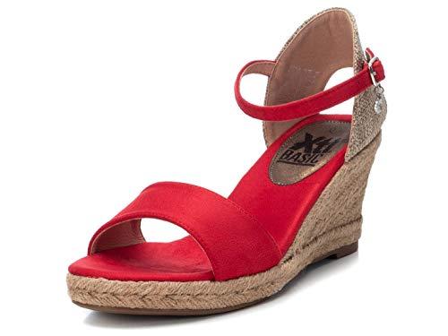 XTI Sandalia BAS034258 para Mujer Rojo 41