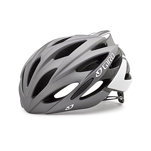Giro Savant Road Bike Helmet, Matte Titanium/White, Medium