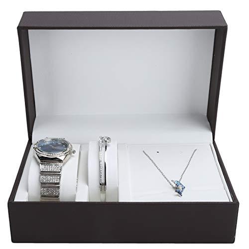 Lv. life Schmuck Set, Uhr Armband Halskette Kit Frauen Schmuck Set Freundin Jubiläum Geburtstagsgeschenk Set Frau Freundin Jubiläum Geburtstag mit Box