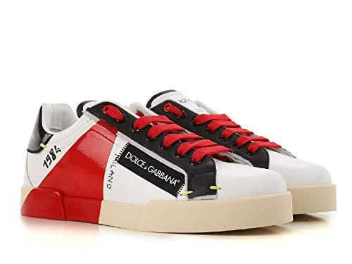 Dolce&Gabbana Sneakers Portofino Uomo Bianco/Rosso 42 EU
