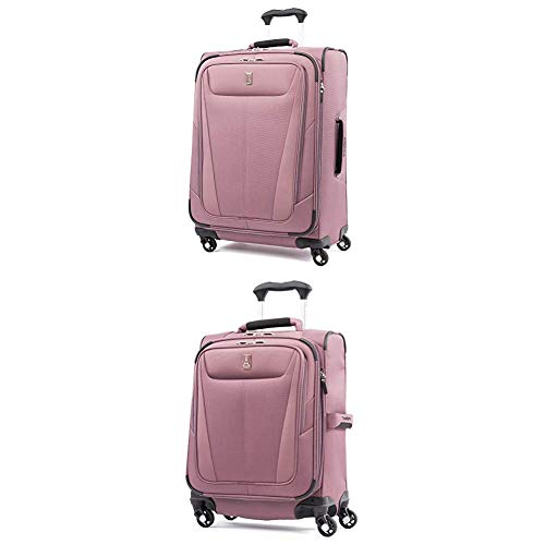 """Travelpro Luggage Maxlite 5 Lightweight Expandable Suitcase + 20"""" Carry-On Spinner (Dusty Rose)"""