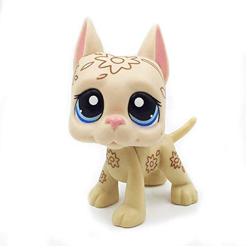 Lps Cat Pet Shop - Juguetes lindos para perros danes, diseño de flores con ojos azules